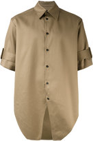 Yang Li belted short sleeve shirt - men - Cotton - 46