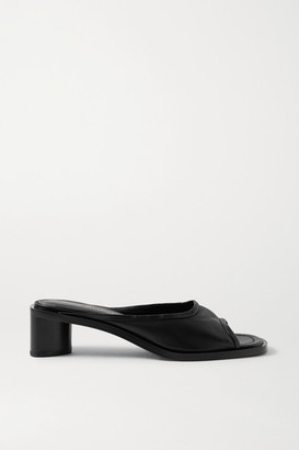 Acne Studios Leather Mules - Black