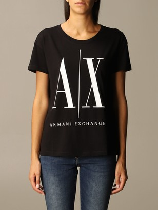 Armani Collezioni Armani Exchange T-shirt Icon Over Logo Half Sleeve Crewneck