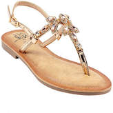 Gc Shoes GC Shoes Womens Gypsy Adjustable Strap Flat Sandals, 6 Medium, Pink