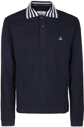Vivienne Westwood Navy Blue Cotton Polo Shirt