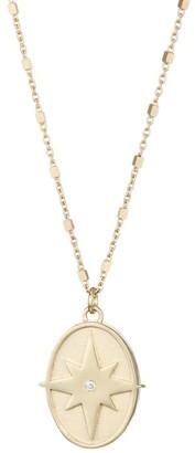 Jennifer Zeuner Jewelry Femke 14K Yellow Gold Vermeil & Diamond Star Medallion Necklace