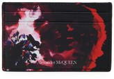Alexander McQueen Painted Floral Leather Card Case