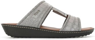 Tod's Croc-Effect Leather Sandals