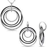 Julie Leah 1/2 CT TW Diamond Silver Multi-Loop Necklace and Dangle Earrings Set