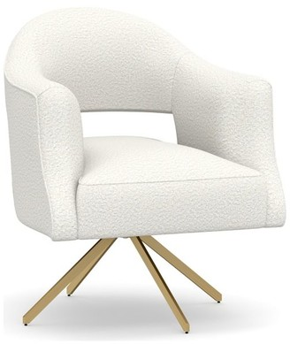 Pottery Barn Kayden Upholstered Swivel Armchair