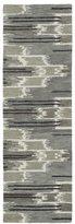 Leon Hand-Tufted de Ikat Grey Rug (2'6 x 8')
