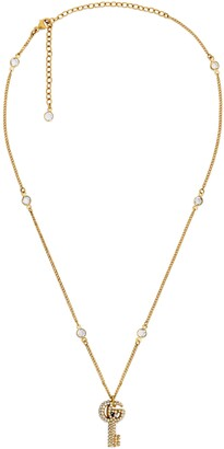 Gucci Double G key necklace with crystals