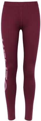 Kenzo Burgundy Logo Stretch-jersey Leggings