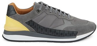 HUGO BOSS Element Mix Media Leather Low-Top Sneakers