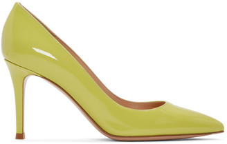 Gianvito Rossi Yellow Patent Gianvito Heels