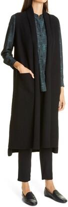 Eileen Fisher Boiled Wool Long Vest