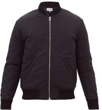 Loewe Floral-print Technical Bomber Jacket - Mens - Black