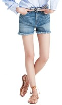 Madewell Women's Perfect High Waist Cutoff Denim Shorts