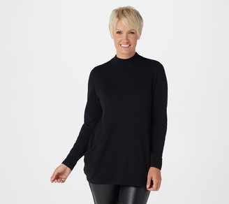 Joan Rivers Classics Collection Joan Rivers Mock Neck Sweater with Scoop Pockets