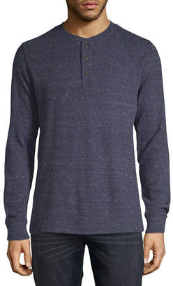 ST. JOHN'S BAY Mens Henley Neck Long Sleeve Thermal Top