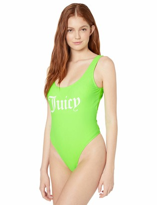 Juicy Couture One Piece Classic Swimsuit with Logo - green - X-Small