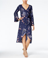 Roxy Juniors' Drifting Seas Floral-Print Wrap Dress