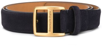 Ermenegildo Zegna Logo-Engraved Buckle-Belt