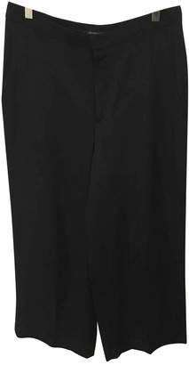 Theyskens' Theory Black Silk Trousers