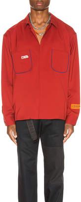Heron Preston CTNMB Worker Shirt in Dark Red | FWRD