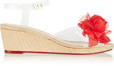 Charlotte Olympia Alexa embellished PVC wedge sandals
