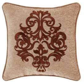 """J Queen New York J Queen Luciana 18"""" Square Embellished Decorative Throw Pillow Bedding"""