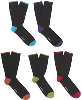 Wolsey 5 Pack Heel And Toe Design Socks Brights