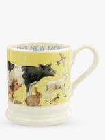 Emma Bridgewater Bright New Morning Half Pint Mug, 280ml, Yellow/Multi
