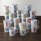 Crate & Barrel Alphabet Mugs