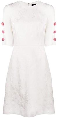 Dolce & Gabbana Jacquard Floral Dress