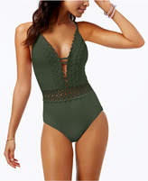 Becca Siren Plunging One-Piece Swimsuit