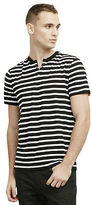 Kenneth Cole Striped Henley T-Shirt