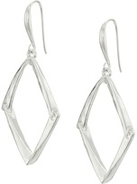 Robert Lee Morris Shiny Silver Diamond Drop Earrings