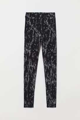 H&M Patterned Leggings - Gray