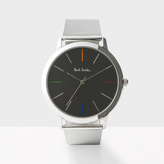 Paul Smith Men's Black And Silver 'Ma' Watch