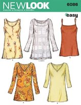 New Look A 10-12-14-16-18-20-22 Sewing Pattern 6086 Misses Tops