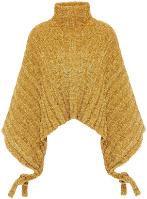 J.W.Anderson Metallic Ribbed Tinsel Turtleneck Sweater