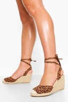 Thumbnail for your product : boohoo Wrap Up Espadrille Wedges