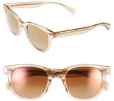 Oliver Peoples Women's 'Masek' 51Mm Retro Sunglasses - Pink/ Rose Quartz Mirror