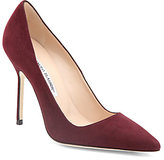 Manolo Blahnik BB Suede Point-Toe Pumps
