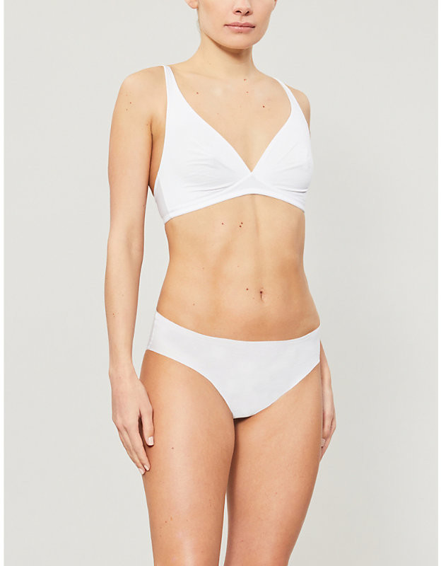 Thumbnail for your product : Hanro Invisible Cotton mid-rise cotton-jersey briefs