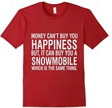 Lego Men's Money Cant Buy Happiness But Can Buy Snowmobile T-Shirt Small