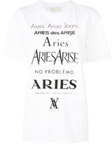 Aries logo print T-shirt - women - Cotton - 1