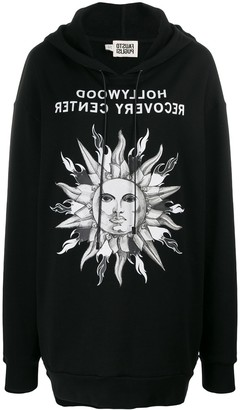Fausto Puglisi Oversized Sun-Print Hoodie