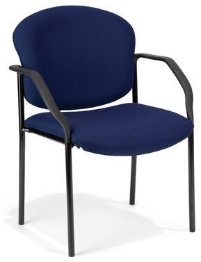 Symple Stuff Bickley Deluxe Guest Chair Seat Color: Navy