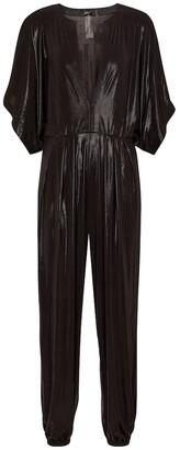 Norma Kamali Rectangle Jog stretch-lamA jumpsuit