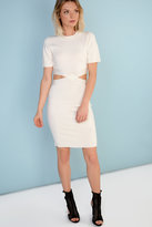 Glamorous Petite White Cut Out Midi Dress