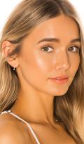 Ef Collection 14k Diamond & Pearl Mini Huggie Earring