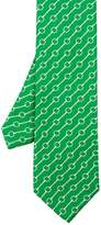 J.Mclaughlin Italian Silk Twill Tie In Horsebit